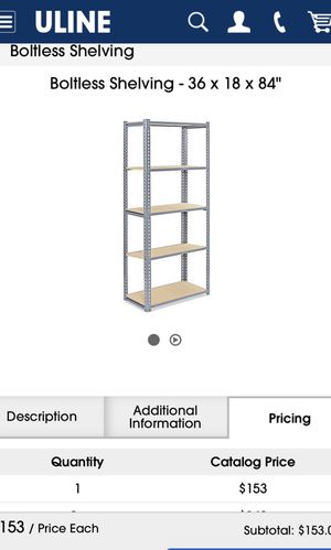 Heavy duty garage shelves snap and lock. 80 each for Sale in Selma, CA