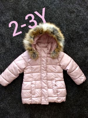 H &M Pink Padded Hooded Jacket 2-3 y for Sale in Auburn, WA
