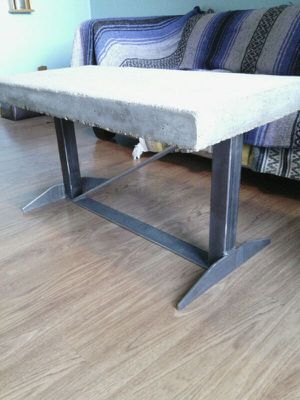 Cement top iron base table for Sale in Potwin, KS