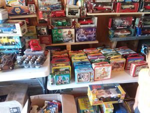 Vintage lunch boxes . Diecast cars . Old toys for Sale in Westminster, MD