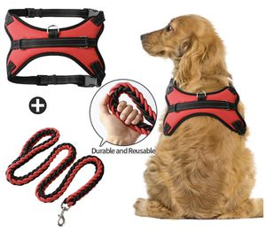 Dog Harness & Leash Set No-Pull Pet Vest with Round Braided Leash Safe Vest with Adjustable Breathable Mesh for Sale in Columbia, MO