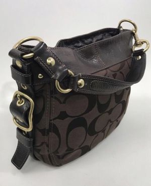 BN Coach Brown Signature Canvas Large Zoe Top Handle Hobo Bag / shoulder bag for Sale in Plano, TX