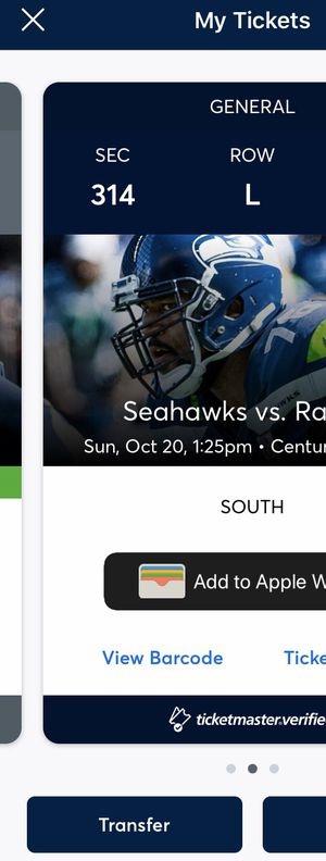 Seahawks vs Baltimore Ravens Tickets for Sale in Federal Way, WA