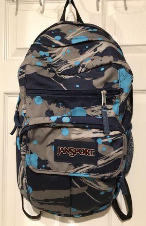 Jansport backpack blue/grey camouflage for Sale in Portland, OR