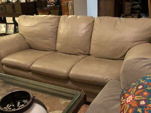 2 Beige Couches (1 Full-size and 1 Loveseat) for Sale in Miami, FL