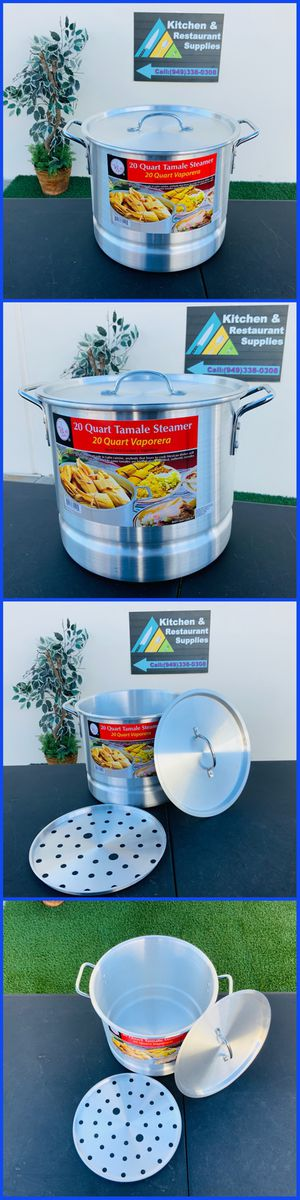 20 QUART TAMALE STEAMER VAPORERA OLLA PARA TAMALES NEW SALE IN STORE PICK UP ONLY POTS CAZOS COMALES TACO CARTS SALE for Sale in Garden Grove, CA