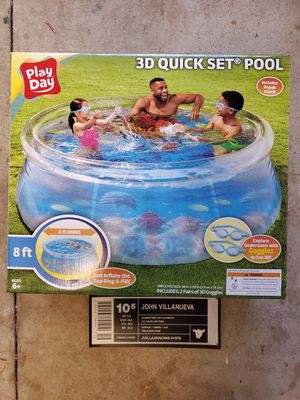 8ft Inflatable Swimming Pool Above Ground Play Day for Sale in Kapolei, HI