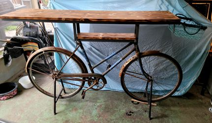 Custom Made Bicycle Table With Shelf for Sale in Palm Harbor,  FL