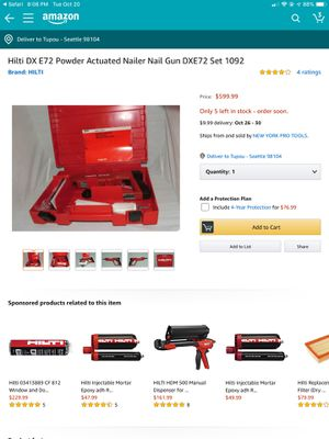 Hilti nail gun for Sale in Seattle, WA