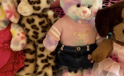 Lot Of Build A Bear Stuff Animals Dog Cat Bunny Leopard for Sale in Winter Haven,  FL