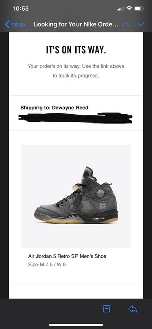 Off-white Jordan 5 size 7.5 men for Sale in Joint Base Lewis-McChord, WA