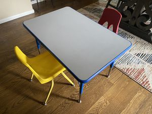 Kids school quality table and two chairs for Sale in Northglenn, CO
