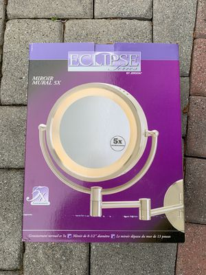 Satin Nickel Cordless LED Lighted Wall Mounted Mirror for Sale in Old Bridge Township, NJ
