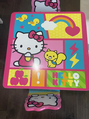 Hello kitty table and 2 chairs for Sale in Ashburn, VA