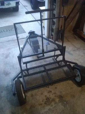 3 wheel utility sled/trailer with hitch stand attachment for Sale in Houston, TX