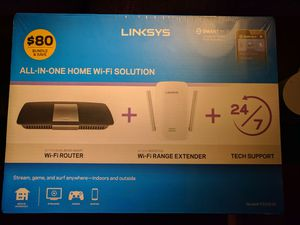 Linksys Dual Band Gigabit wifi router + Range Extender *NEW* for Sale in Fairfax, VA