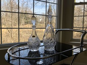 2 VINTAGE WEST GERMANY HANDCUT LEAD CRYSTAL DECANTER for Sale in Fort Washington, MD