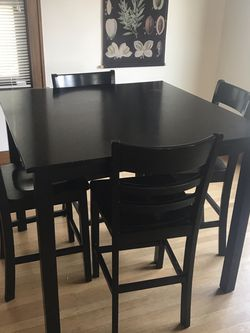 Tall Black Dining Table for Sale in Seattle,  WA