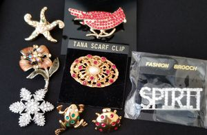 Lot of Brooch Pin, Scarf clip for Sale in Folsom, CA