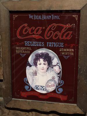 Antique cocoa cola glass picture for Sale in Fresno, CA