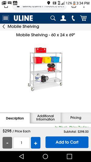 Mobile metal shelves for Sale in Orlando, FL
