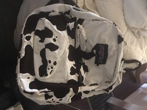 Jansport cowhide book bag for Sale in Avon Park, FL
