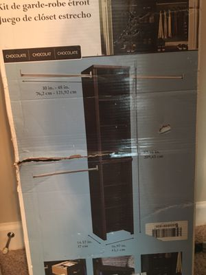 Closetmaid closet organizer for Sale in Ashland City, TN