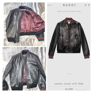 Men's Gucci Leather Jacket for Sale in Chevy Chase, MD