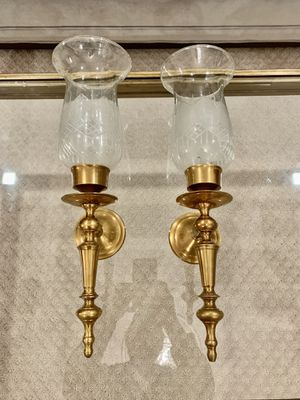"Pair of two heavy brass wall candle sconces 18"" for Sale in Alexandria, VA"