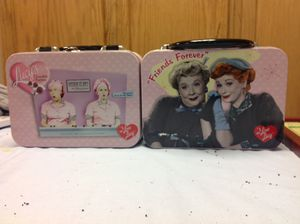 Great Christmas gift for the Lucy lover. 2 Lucy tin lunch boxes for Sale in Tremont, IL