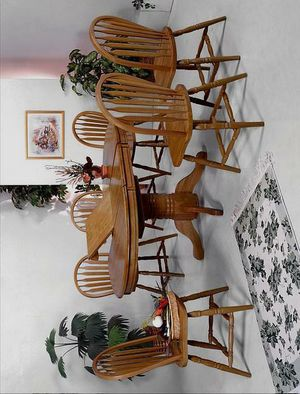 🚚3-6 days delivery🚚NewFarmhouse Dark Oak Extendable Oval Dining Set for Sale in Jessup, MD