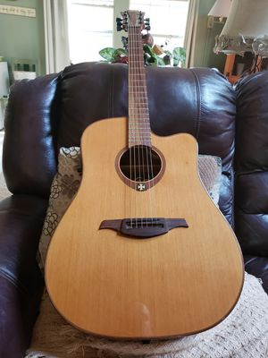 Lag t100dce acoustic electric guitar fresh setup for Sale in Stockbridge, GA