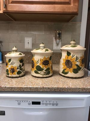 NEW! Provencial Garden Canister Set by Whole Home for Sale in Virginia Beach, VA