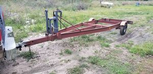 Tilt boat trailer...no title...14ft... for Sale in Houston, TX