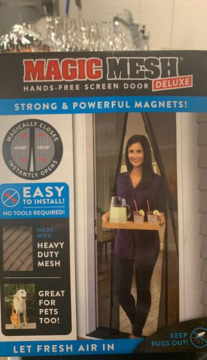 Brand new in box magic magnetic screen door a for Sale in Snoqualmie, WA