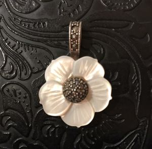 .925 SS Necklace with Marcasite/Mother of Pearl Pendant for Sale in Springfield, VA