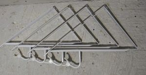 4 Brand New 9.5 in. x 14 in. x 17. in 1000 lbs. Shelf and Rod Bracket White for Sale in Tampa, FL