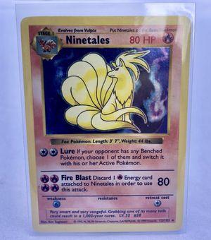 Pokemon Cards - Base Set Shadowless - Ninetales for Sale in FL, US