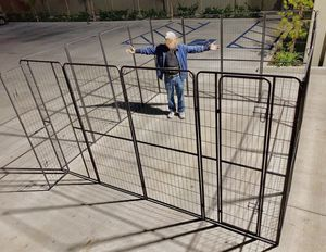 New in box 72 inch or 6 feet tall x 32 inches wide each panel x 16 panels exercise playpen fence safety gate dog cage crate kennel for Sale in Whittier, CA