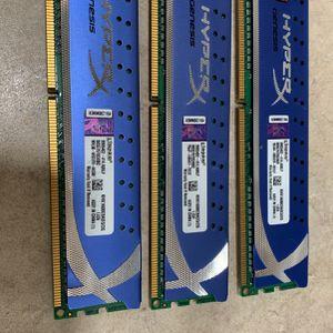 3x Kingston Hyper X Genesis Desktop Ram for Sale in San Diego, CA