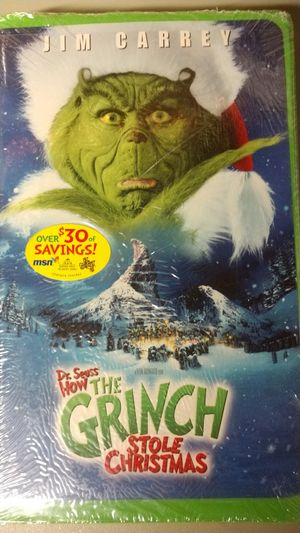 Jim Carrey Dr. Seuss' How The Grinch Stole Christmas Original VHS for Sale in Tijuana, MX