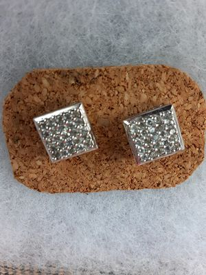 precious silver earrings with stones for Sale in San Leandro, CA