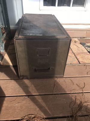 Vintage metal filing cabinet for Sale in Rocky Mount, VA