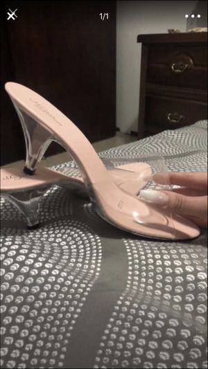 Clear small heel size 13 for Sale in El Paso, TX