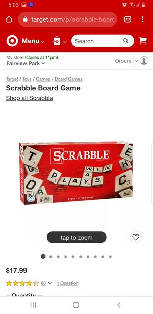 Scrabble Board Game for Sale in Olmsted Falls, OH