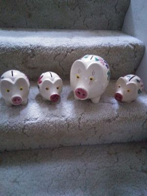 Vintage Hand Painted Piggy Banks for Sale in Tenino, WA