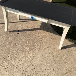 wood coffee table with drawer clear blue knob. 39.5 inches wide, 19.5 inches deep; 18 inches high for Sale in Fresno, CA