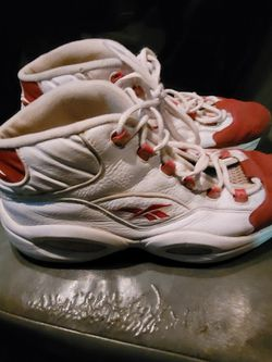 Reebok QUESTION MID red White Size 13 Used.. Id Say 6/10 Score And I'm A Shoe Guy for Sale in Mesa, AZ