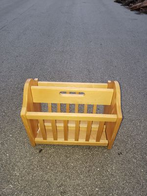 LARGE WOODEN MAGAZINE RACK for Sale in Boca Raton, FL