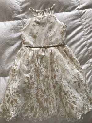 Cream and gold glitter dress for Sale in San Leandro, CA